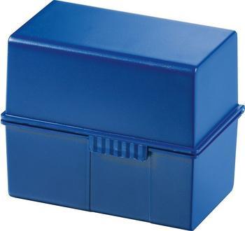 HAN Karteikasten A7 quer Kunststoff blau