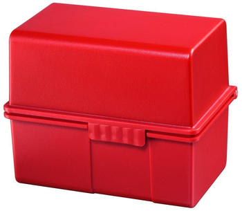 HAN Karteikasten A8 quer Kunststoff rot