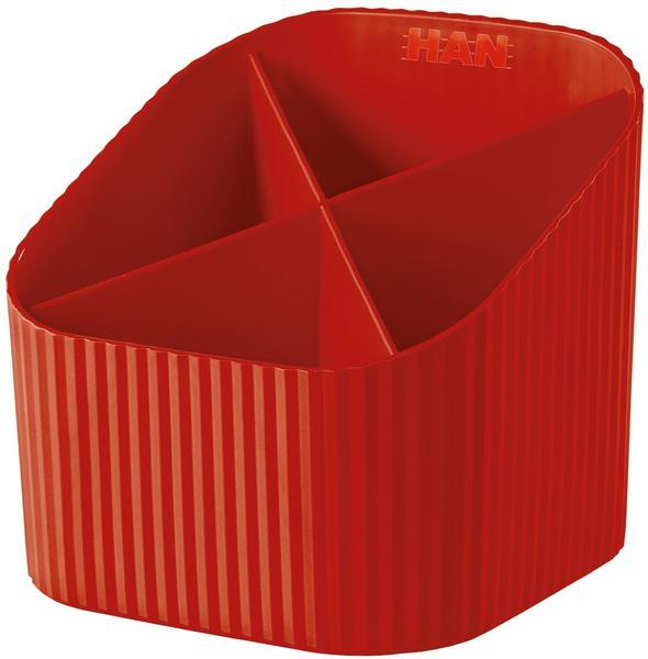 HAN Multiköcher X-Loop 4 Fächer rot