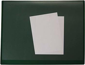Staples Schreibunterlage Kunststoff mit Vollsichtauflage 63x50cm grün