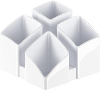 HAN Stifteköcher Scala rechteckig 4 Fächer weiß