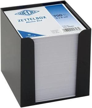Wedo Zettelbox 9x9cm schwarz/weiß