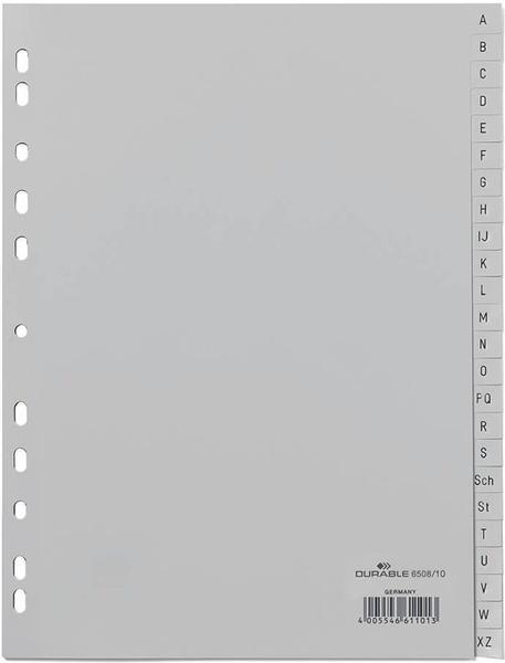 DURABLE A-Z grau 24-teilig 6508-10