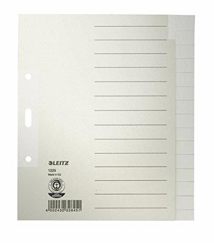 Leitz Register RC Tauen blanko grau A5 15-teilig