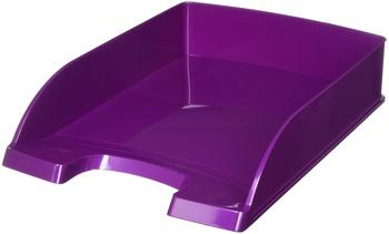 Leitz Briefablage Wow A4 violett-metallic