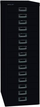 Bisley L3915S Schubladenschrank 15 Schübe schwarz