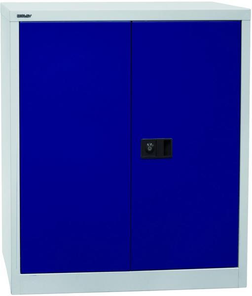 Bisley Universal Flügeltürenschrank 2OH blau/grau