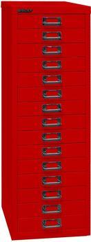 Bisley L3915S Schubladenschrank 15 Schübe kardinalrot