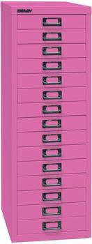 Bisley L3915S Schubladenschrank 15 Schübe pink