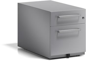 Bisley Rollcontainer Note mit Griff (NWH79M7SF355) silber