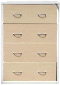 Gürkan Hängeregistraturschrank 132x76x62cm ahorn/silber