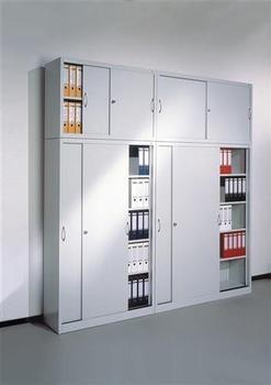 CP Möbelsysteme Aktenschrank Serie 2000 120x79x40cm lichtgrau
