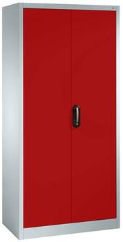 CP Möbelsysteme Aktenschrank Serie 900 93x195x40cm rot/lichtgrau