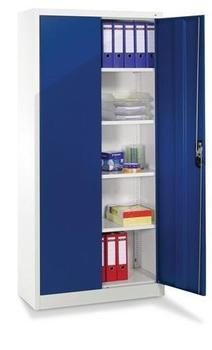 CP Möbelsysteme Aktenschrank Serie 900 93x195x50cm blau/lichtgrau