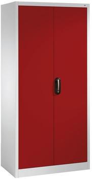 CP Möbelsysteme Aktenschrank Serie 900 93x195x50cm rot/lichtgrau