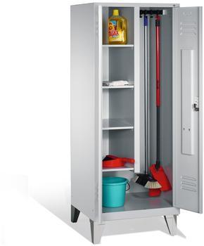 CP Möbelsysteme Mehrzweckschrank S 2000 81x185x50cm mit Füßen lichtgrau