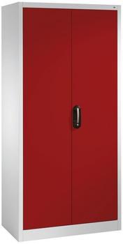 CP Möbelsysteme Mehrzweckschrank Serie 900 93x195x40cm rot/lichtgrau
