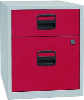 Bisley Schubladenschrank (PFAM1S1F) rot/grau