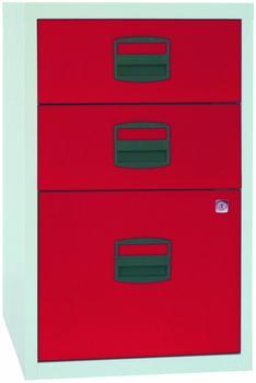 Bisley Schubladenschrank PFA3 rot/grau
