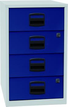 Bisley Schubladenschrank (PFA4S) lichtgrau/oxfordblau