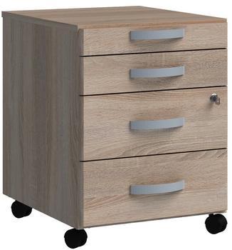 Wellemöbel JOBexpress Rollcontainer 43x56x50cm Wildeiche
