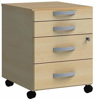Wellemöbel JOBexpress Rollcontainer 43x56x50cm Ahorn