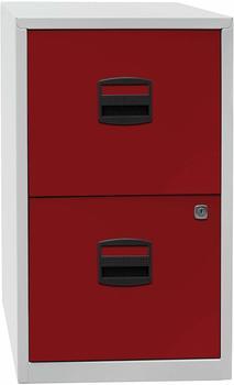 Bisley Schubladenschrank Light (PFA2) grau-rot
