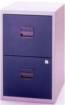 Bisley Schubladenschrank Light (PFA2) grau-blau