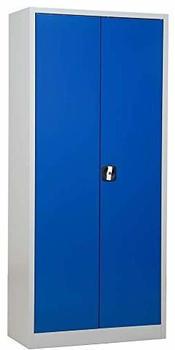 Gürkan Stahlschrank 180x80x38cm lichtgrau/blau