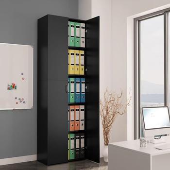 vidaXL Office Storage 60 x 32 x 190 cm Black