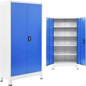 vidaXL Office Storage 90 x 40 x 180 cm Blue and Grey