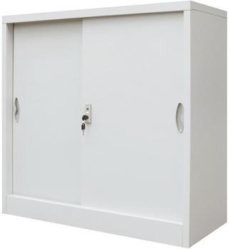 vidaXL Sliding Door Office Cabinet, Grey