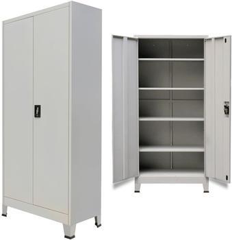 vidaXL 2-Door Steel Office Cabinet, Grey