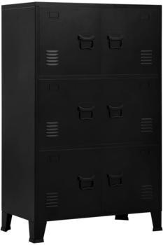 vidaXL 6-Door Filing Cabinet, Industrial Black