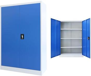 vidaXL Office Storage 90 x 40 x 140 cm Blue and Grey