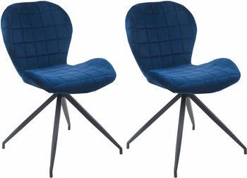 SIT SIT&CHAIRS Stuhl 2er-Set 2431 dunkelblau/schwarz