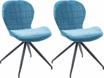 SIT SIT&CHAIRS Stuhl 2er-Set 2431 hellblau/schwarz