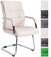 Clp Freischwingerstuhl SIEVERT mit hochwertiger Polsterung und Kunstlederbezug Konferenzstuhl mit Armlehne l In verschiedenen Farben erhältlich