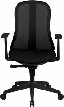 Amstyle Schreibtischstuhl Schwarz Stoff Design Drehstuhl mit Lehne