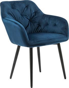 SalesFever Esszimmerstuhl mit Knopfheftung, blau