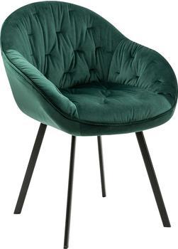 SalesFever Esszimmer-Stuhl mit aufwändiger Steppung, grün