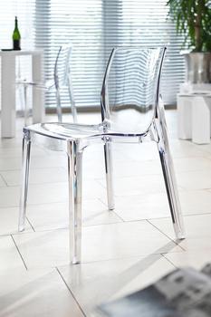 SalesFever Esszimmerstuhl in transparentem Design, weiß