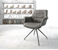 delife-drehstuhl-kaira-flex-kreuzgestell-konisch-schwarz-vintage-grau