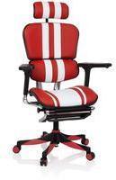 HJH Office ERGOHUMAN ELITE PRO Red/White