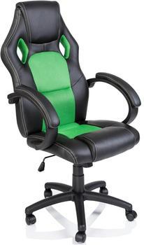 Tresko Racing Chefsessel Bürostuhl Drehstuhl Schalensitz Bürosessel Schreibtischstuhl 606 (RS-013) schwarz/grün