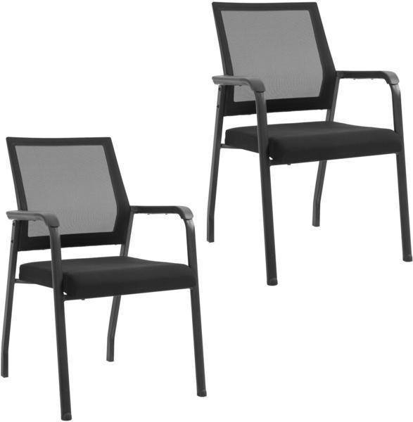 Vinsetto Konferenzstuhl 58 x 58 x 88 cm schwarz 2 Stk. (921-306V01)