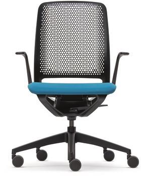 Sedus se:motion mit Armlehnen Sitzpolster blau