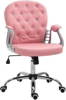 Vinsetto Bürostuhl 59,5 x 60,5 x 95-105 cm rosa (921-169V01PK)