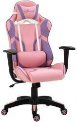 Vinsetto Gaming-Stuhl 69 x 56 x 116-125,5 cm rosa violett (921-201)