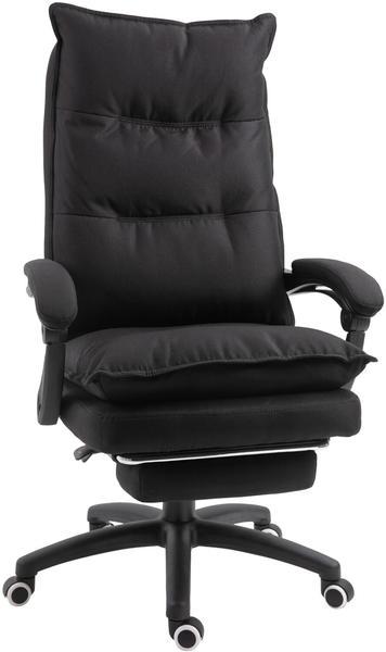 Vinsetto Massage-Bürostuhl 70 x 62 x 120-130 cm schwarz (921-232BK)